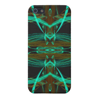 Green Fractal 4  Cover For iPhone 5/5S
