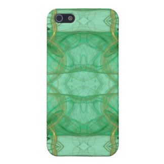 Green Fractal 4  iPhone 5 Cases