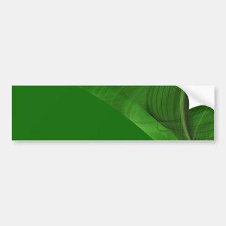 Green Fractal Background Bumper Sticker