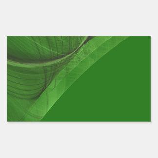 Green Fractal Background Rectangle Sticker