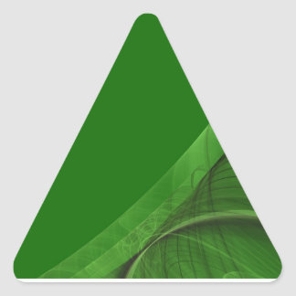 Green Fractal BackgroundTriangle Sticker