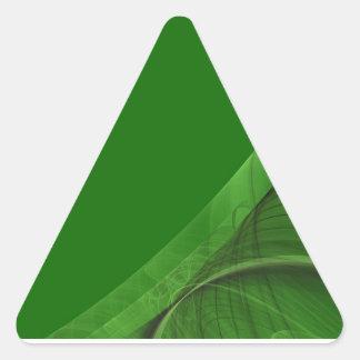Green Fractal BackgroundTriangle Sticker