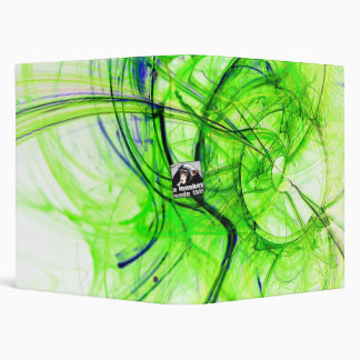 Green Fractal Vinyl Binder