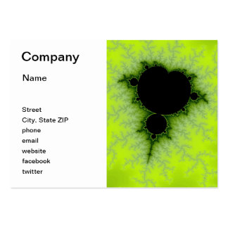 Green Fractal Pack Of Chubby Business Cards