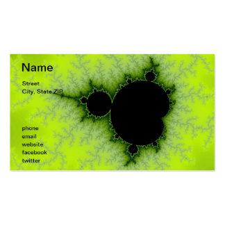 Green Fractal Pack Of Standard Business Cards