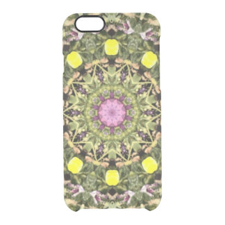 Green Fractal Clear iPhone 6/6S Case