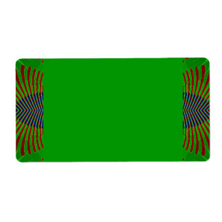 green fractal design shipping label