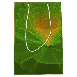Green Fractal Flower Gift Bag