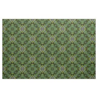 Green Fractal Fun No.1 Diagonal Fabric