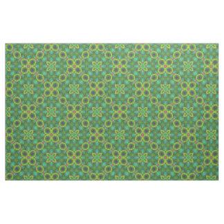 Green Fractal Fun No.2 Diagonal Fabric