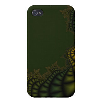 Green Fractal i iPhone 4 Cases