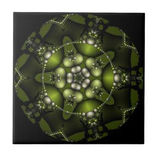 Green Fractal Jewels Tile