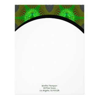 green fractal letterhead design