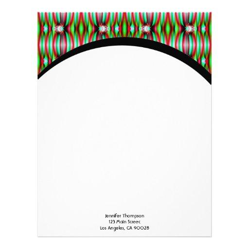green fractal custom letterhead