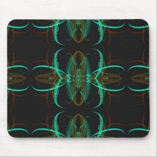 Green Fractal Mousepad