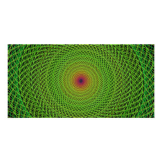 Green fractal photo cards