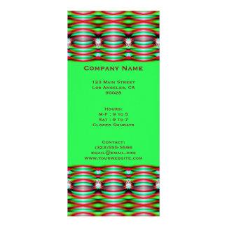 green fractal rack card template