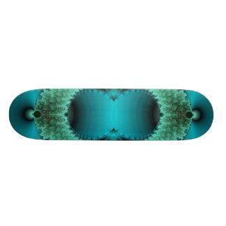Green Fractal Skateboard Deck.