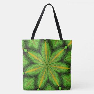 Green Fractal Tote bog