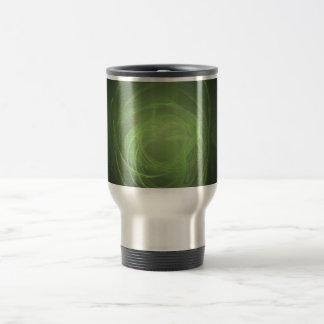 Green Fractal Travel Mug