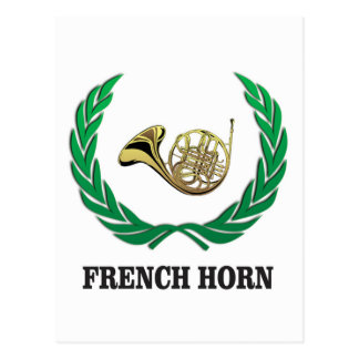 green french horn postcard
