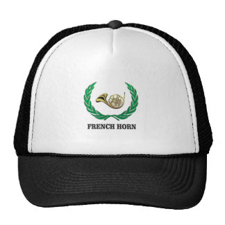 green french horn trucker hat