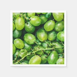 Green Fresh Grapes Disposable Napkin