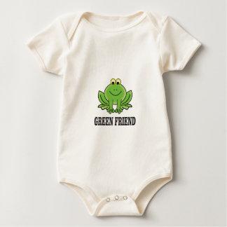 green friend baby bodysuit