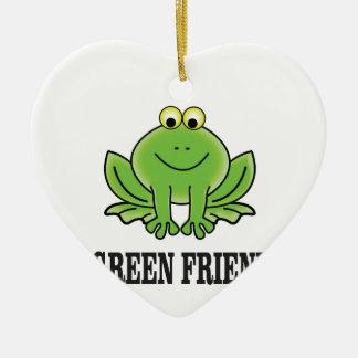 green friend ceramic ornament