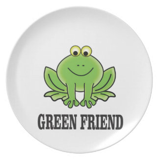 green friend party plate