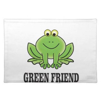 green friend placemat