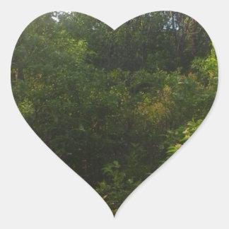 Green Friends Heart Sticker