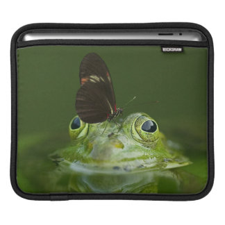 Green Frog and Butterfly iPad Sleeve