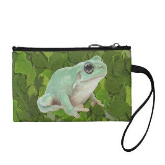 Green Frog Bagettes Bag Coin Wallet