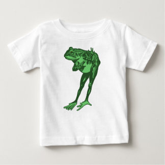 Green Frog Bowing Baby T-Shirt