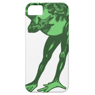 Green Frog Bowing iPhone 5 Case