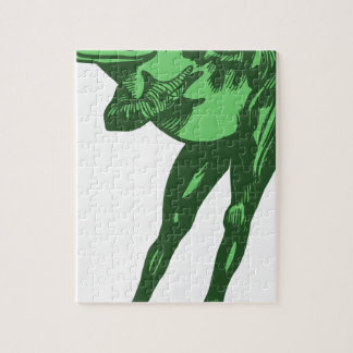 Green Frog Bowing Jigsaw Puzzle