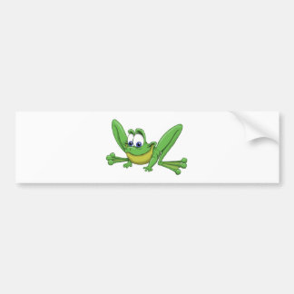 GREEN FROG BUMPER STICKER