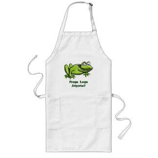 Green Frog Cartoon Long Apron