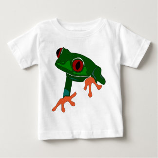 Green Frog Cartoon Baby T-Shirt