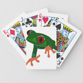 Green Frog Cartoon Bicycle Playing Cards