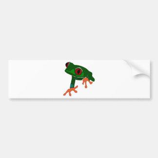 Green Frog Cartoon Bumper Sticker