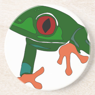 Green Frog Cartoon Coaster