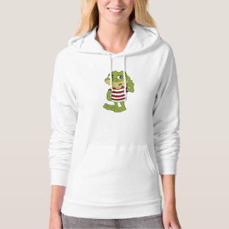 Green frog cartoon hoodie