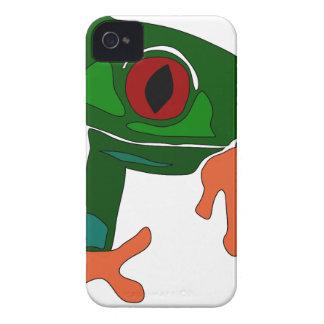 Green Frog Cartoon iPhone 4 Case