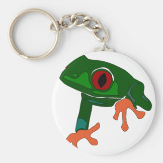 Green Frog Cartoon Keychain