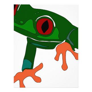 Green Frog Cartoon Letterhead