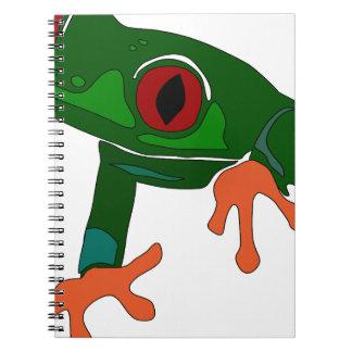 Green Frog Cartoon Notebook