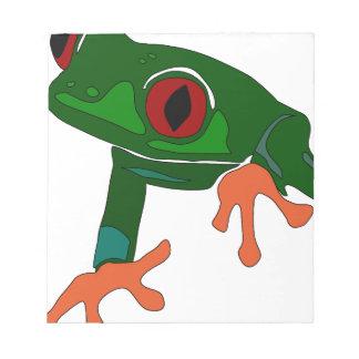 Green Frog Cartoon Notepad