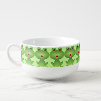 Green Frog Cute Soup Bowl With Handle